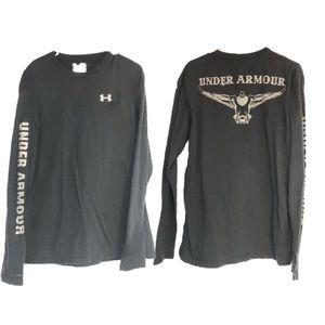 Under Armour sz m black LS duck logo shirt crew